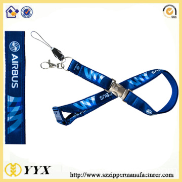 Security safety breakaway polyster heat-transfer lanyard