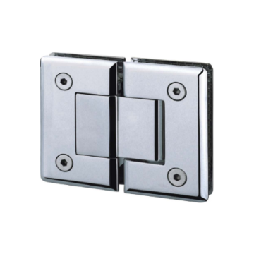180 Degree Glass to Glass Hinges Satin Finish