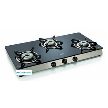 3 Alloy Burners Glass Gas Stove