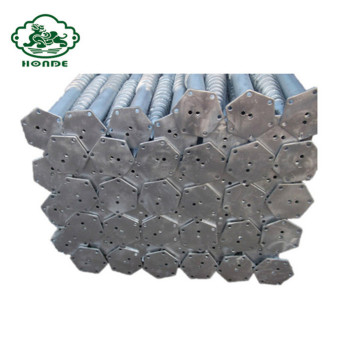 Q235 Steel Hot Dipped Galvanized Ground Screw Pile