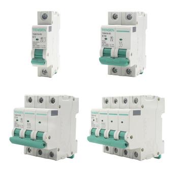 1P 2P 3P 4P 1A - 125A DZ47 Mini Circuit Breaker Air Switch Home Distribution Protection Switch 6KA AC 110V / 220V / 400V 50/60H