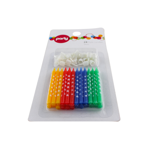 various color sprial candles stick candle