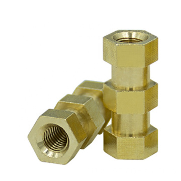 no burr brass head hex flat nut
