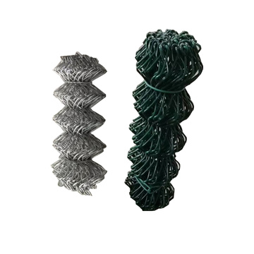 Galvanized  Diamond Chain Link Cyclone wire fence