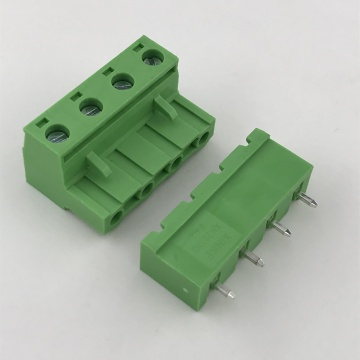 4 poles 7.62 pitch male female terminal block