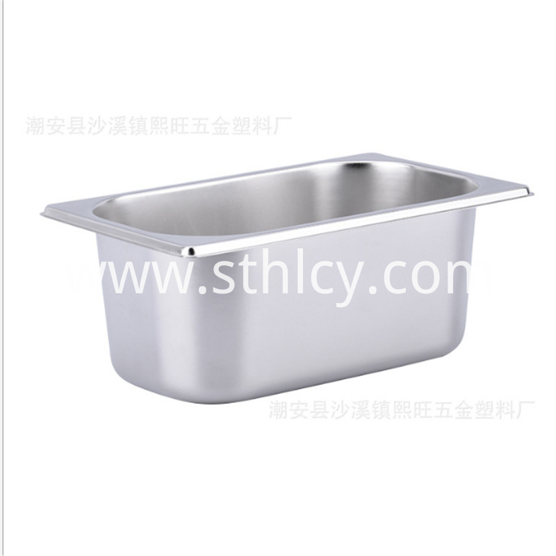 Stainless steel buffet basin for hotel