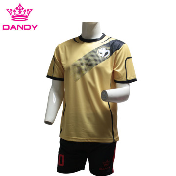 Gold sublimated soccer jerseys