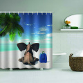 Elephant Waterproof Shower Curtain Animal Bathroom Decor