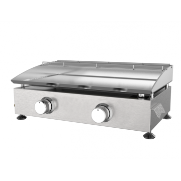 2 Burner Stainless Steel Gas Griddle
