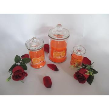 Orange Scented Glass Candle
