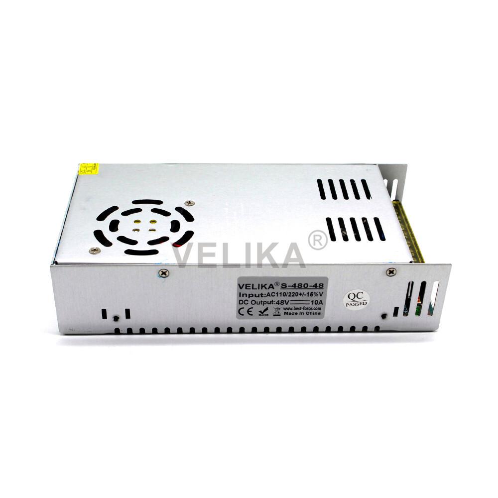 Single Output DC 48V 10A 480W Power Supply Switching Switch Driver AC 110V 220V Input to DC48V SMPS For Stepper Motor Machine