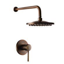 Antique brass style waterfall shower set rain shower concealed mixer for bathroom