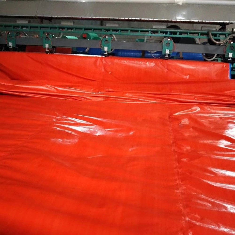 Red TARP Container Cover Marine Using Cover