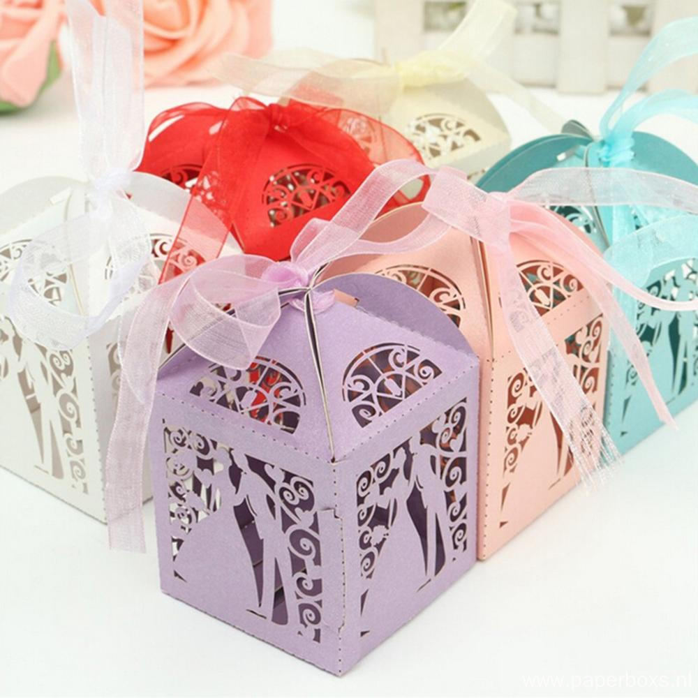 New Design Craft Paper Wedding Favor Gift Boxes