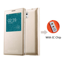Smart View Flip Leather With Chip Phone Case For Samsung Galaxy Note 3 Note3 Not III SM N900 N9000 N9005 SM-N900 SM-N9005 Cover
