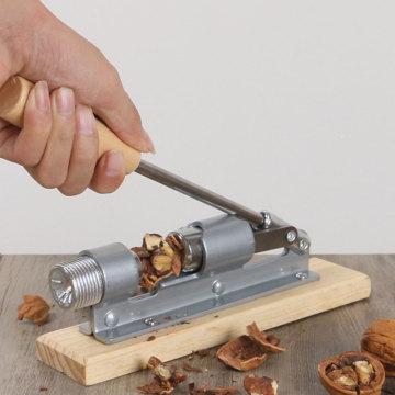 Stainless steel pecan clip Mechanical whole grain peel walnut clip Filbert Walnut Nut opener nut clamp Nutcracker Clamp Plier