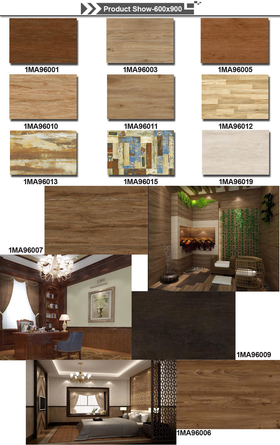 wood effect tiles in living room
