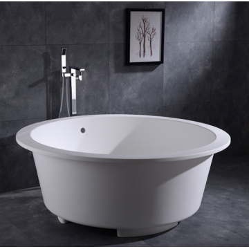 White Round Bathtub Freestanding