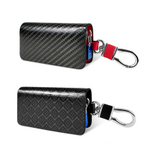 carbon fiber Leather Car Key Wallets