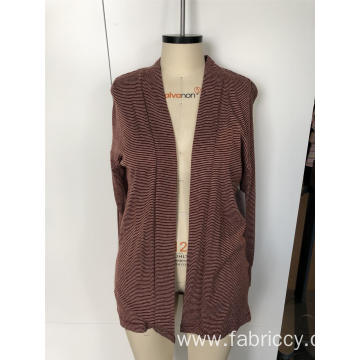 Women's long - sleeved cardigan jacket