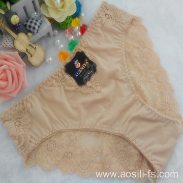 OEM wholesale China panty cameo brown sexy swimming cloth lace elastic fancy underwear 586