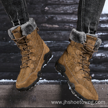 Winter casual high-top non-slip waterproof men's snow boots