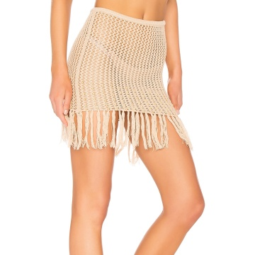 High Quality Sexy Crochet Tassel Skirt For Vacation