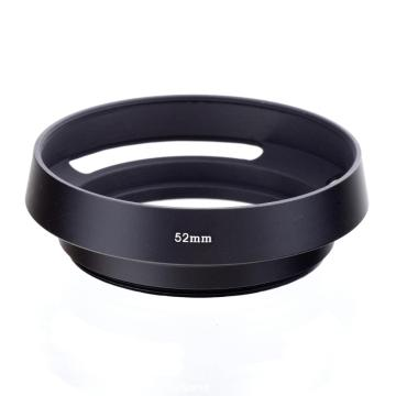 52mm Camera Lens Hood Metal Vented Screw-in Lente Protect For Canon Nikon Sony Leica Olympus Pentax