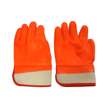 Fluorescent Orange .Cold PVC Coated Glove