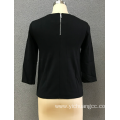 women`s black pu top