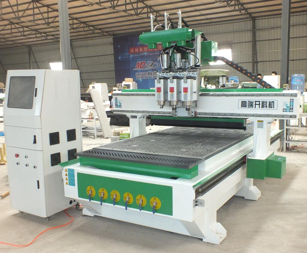 cnc router machine 3 spindles