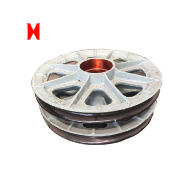Wire rope sheaves nylon pulley wheels with bearings