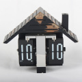 Wooden House Flip Clocks for Decor