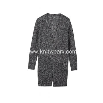 Women's Knitted AB Yarn Buttonless Cardigan