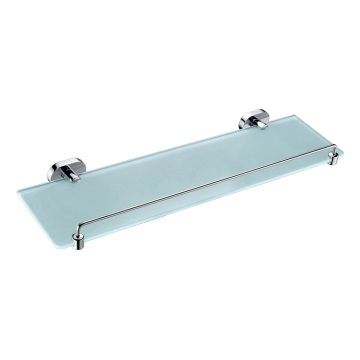 Bathroom Glass Shelf Wall Mounted Chrome Finishing