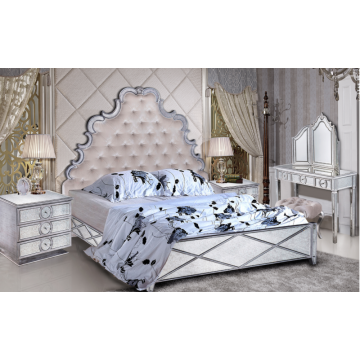 Hot sell high-grade luxury Mirrored Bed