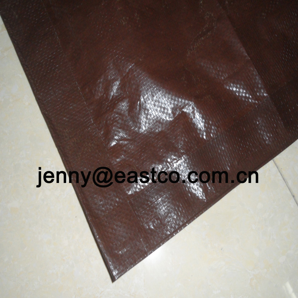 Brown Color Laminated Water Resistance Roofing Tarpaulin