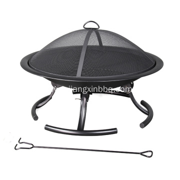 Pleasant Hearth 30-inch W Black Steel Fire pit