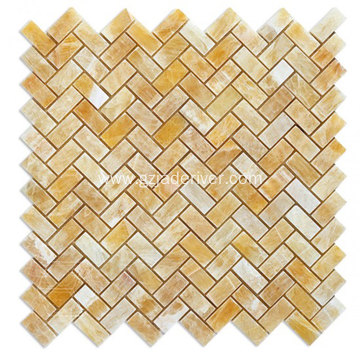 Natural Yellow Onyx Mosaic Stone Wholesale