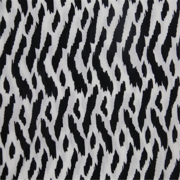 Striped Printed With Rayon Crepe