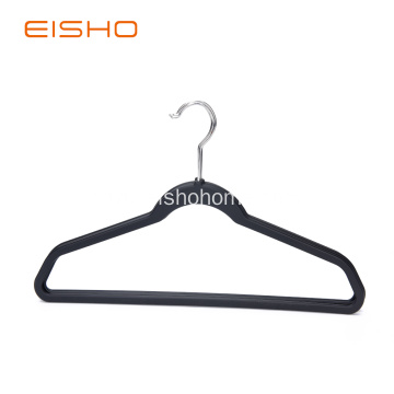 Rubber Paint Basic Black Coat Plastic Hanger