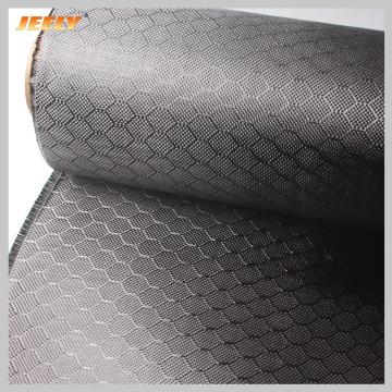 3K 240gsm 0.30mm 1m*0.5m Hexagonal Carbon Fiber Fabric Black Colour/ 3k 200gsm Yellow Black Carbon Aramid Honeycomb Fabric