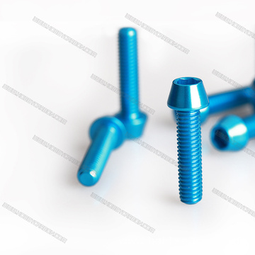 Red And Blue Cone Aluminum Screw For Drone