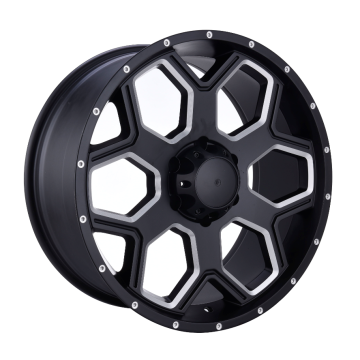 Satin Black Milled Window Offroad Wheel 17x9