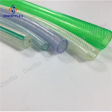 Transparent braided pvc flexible hose