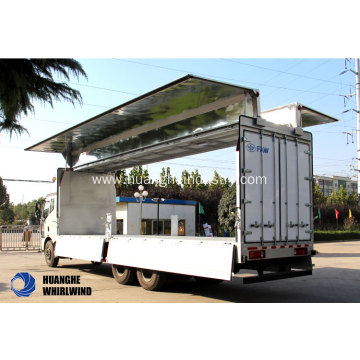 Three Axles Box Body Wing Opening Vehicle