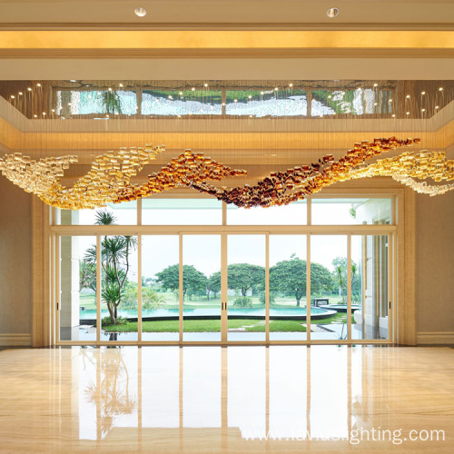 Large new design creative long crystal chandelier pendant