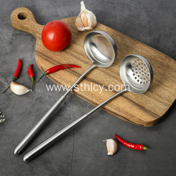 Stainless Steel Iron Thickened Small Leak Spoon