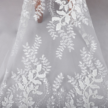 embroidery sequin lace hot sell wedding dress