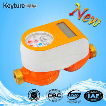 Orange Color Mechanical Sealed Valve Smart Water Meter
